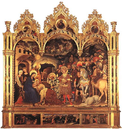 Gentile da Fabriano L'adoration des Mages